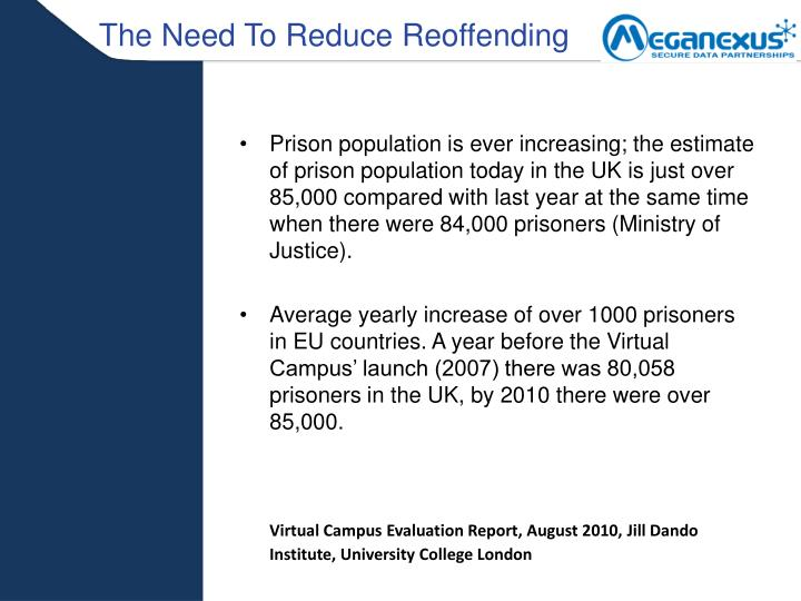 The Need To Reduce Reoffending