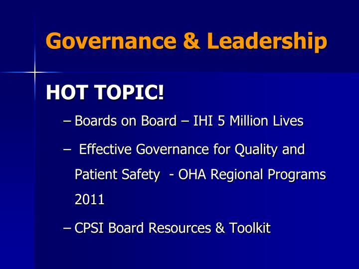 Governance & Leadership