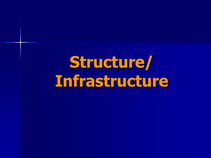Structure/ Infrastructure