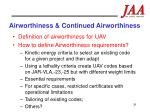 airworthiness continued airworthiness