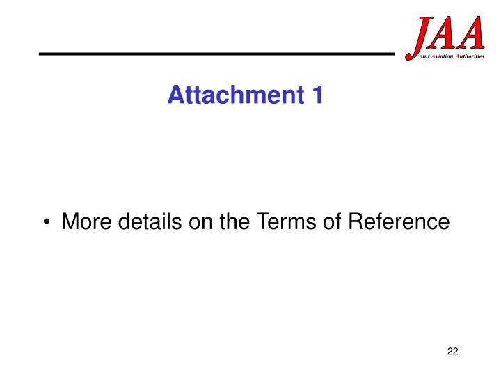 Attachment 1