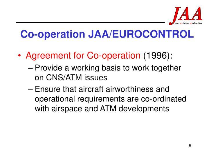 Co-operation JAA/EUROCONTROL