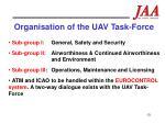 organisation of the uav task force
