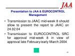 presentation to jaa eurocontrol management