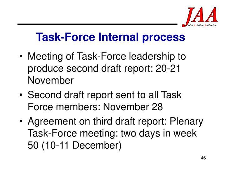 Task-Force Internal process