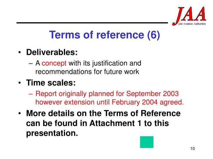 Terms of reference (6)
