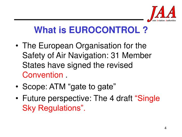 What is EUROCONTROL ?