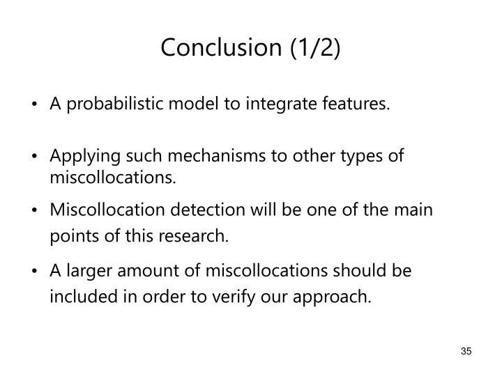 Conclusion (1/2)