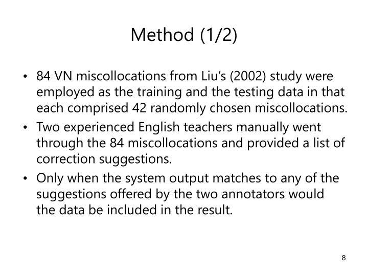 Method (1/2)