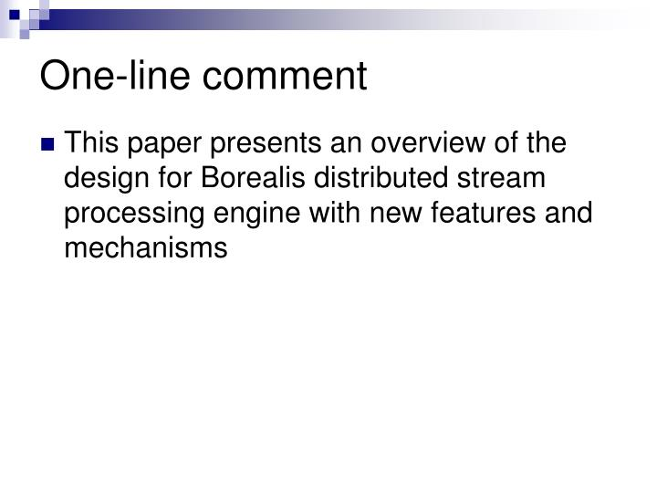 One-line comment