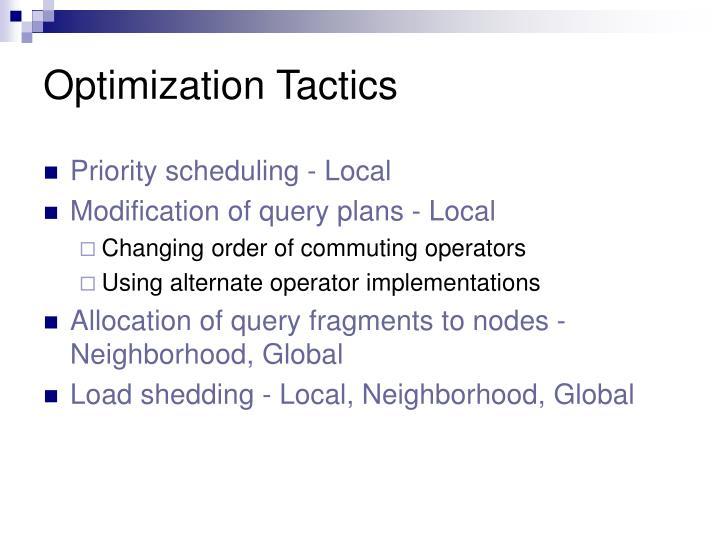 Optimization Tactics