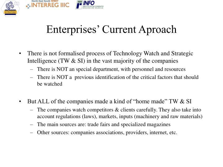 Enterprises' Current Aproach