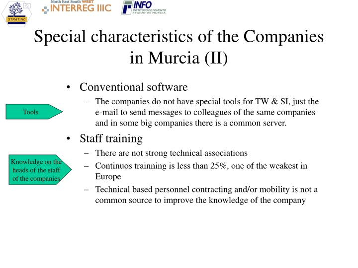 Special characteristics of the Companies in Murcia (II)