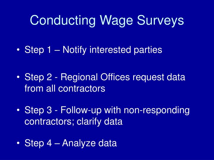 Conducting Wage Surveys