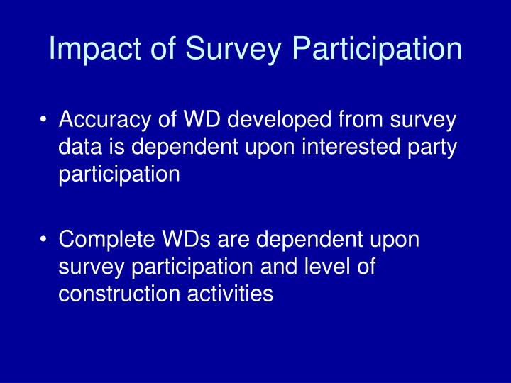 Impact of Survey Participation