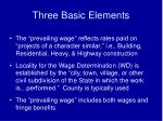 three basic elements