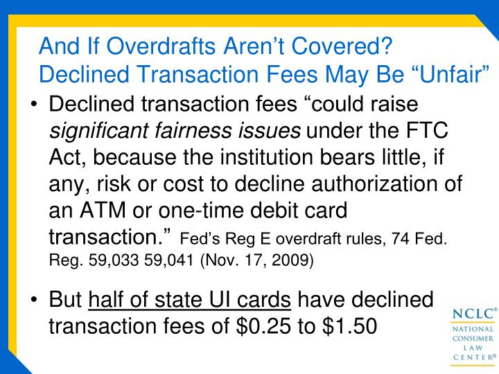 And If Overdrafts Aren't Covered?