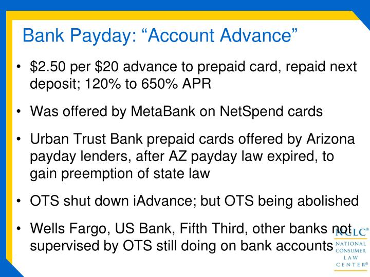 "Bank Payday: ""Account Advance"""