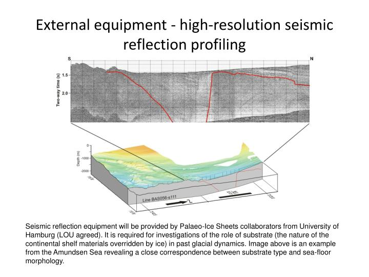 External equipment - high-resolution seismic reflection profiling