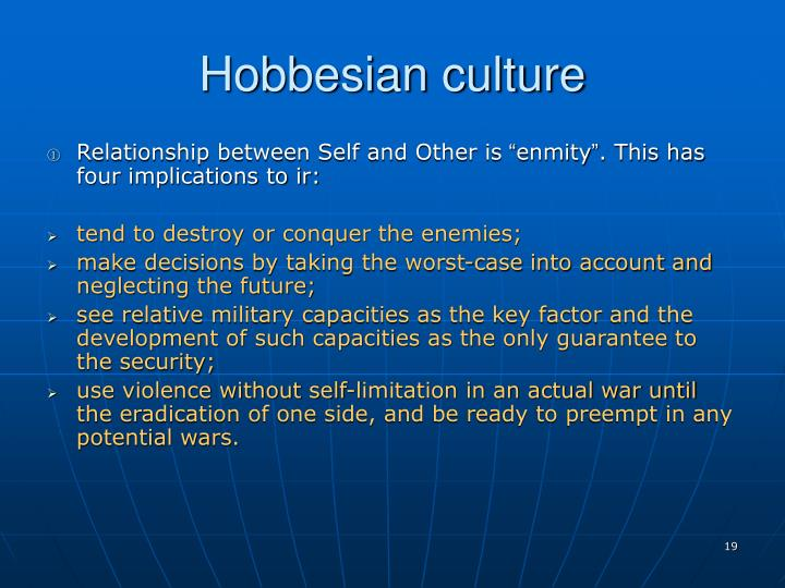 Hobbesian culture
