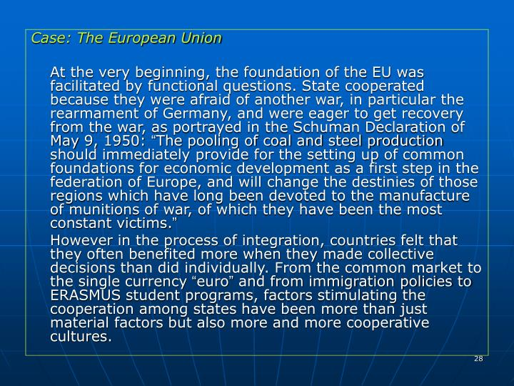 Case: The European Union
