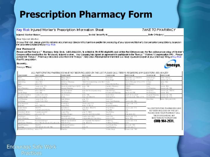 Prescription Pharmacy Form