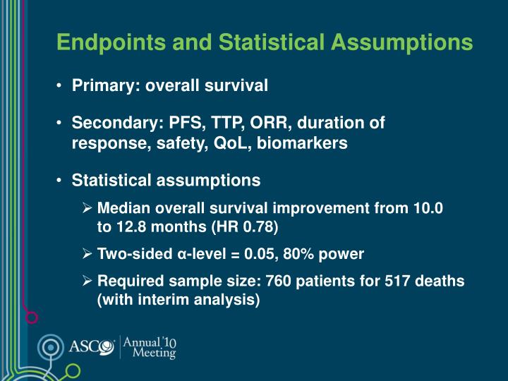 Endpoints and Statistical Assumptions