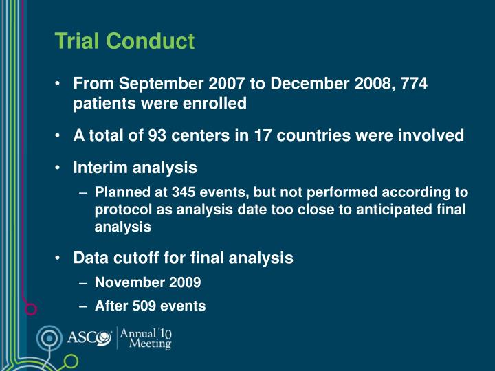 Trial Conduct