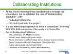 collaborating institutions