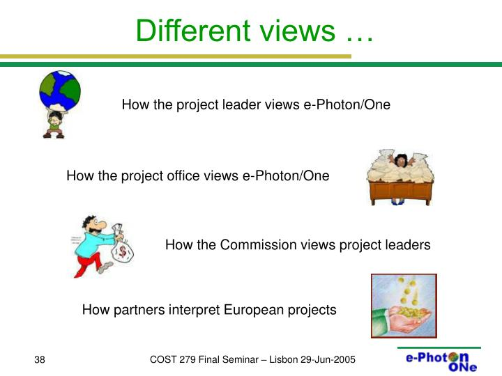 How the project leader views e-Photon/One
