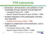 fp6 instruments