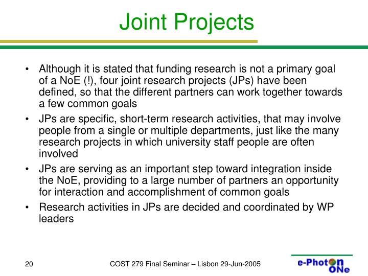 Joint Projects
