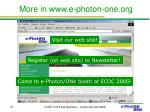 more in www e photon one org