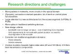 research directions and challanges