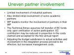 uneven partner involvement