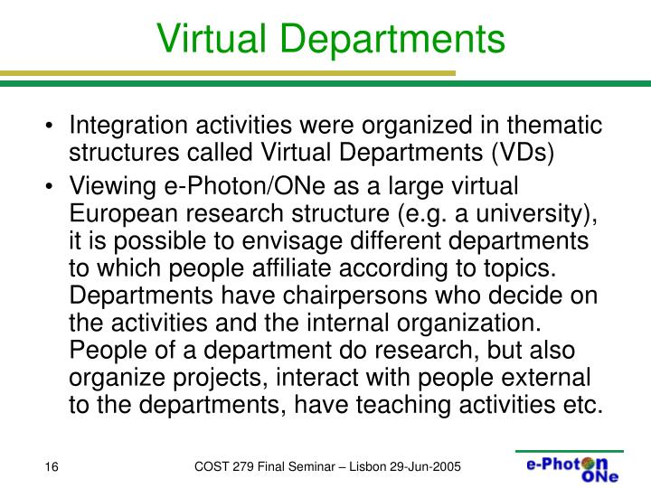Virtual Departments