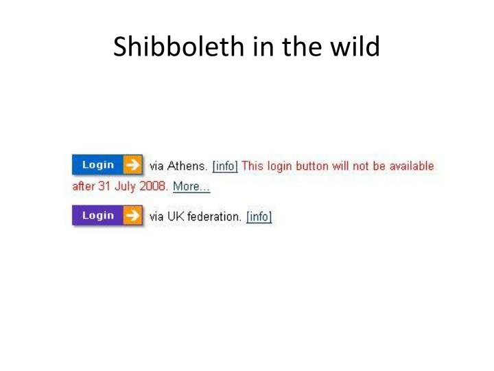 Shibboleth in the wild