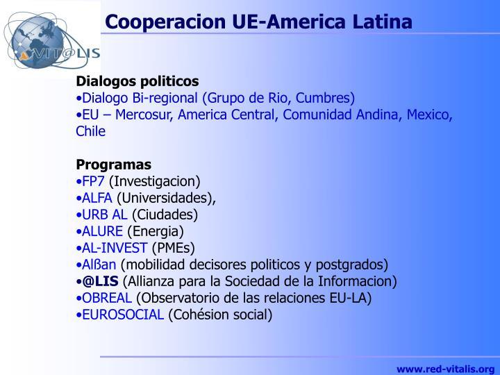 Cooperacion UE-America Latina