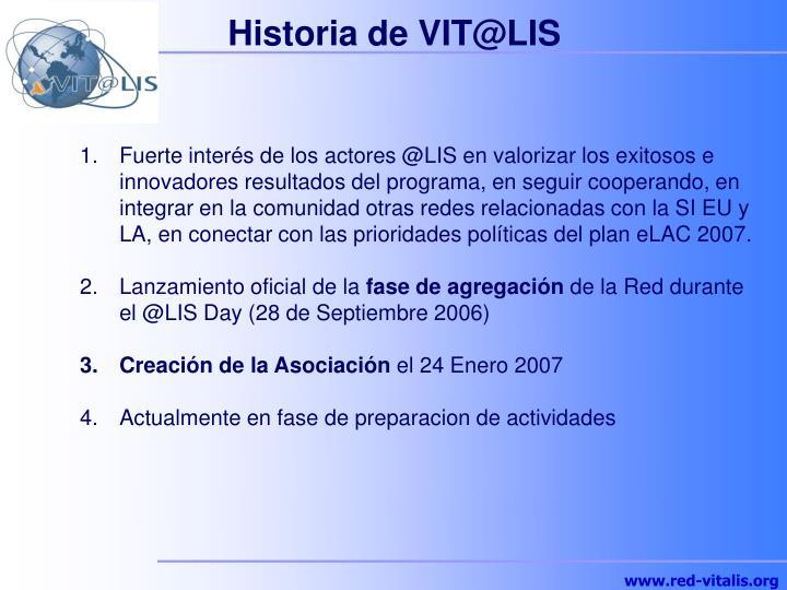 Historia de VIT@LIS
