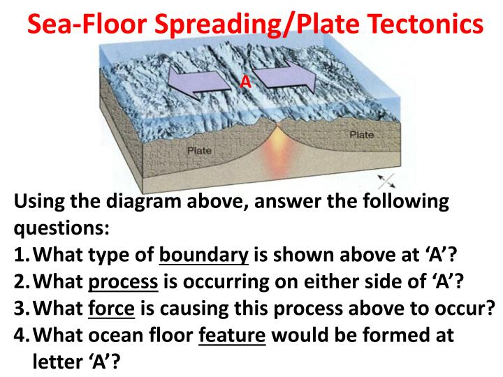 Sea floor spreading plate tectonics