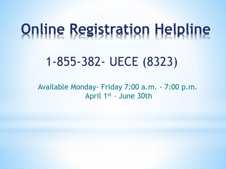 1-855-382- UECE (8323)