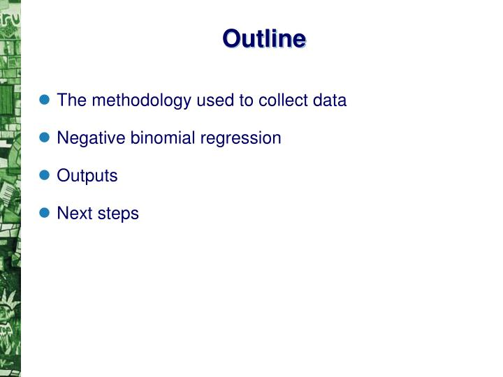 The methodology used to collect data