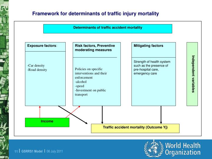 Framework for determinants of traffic injury mortality