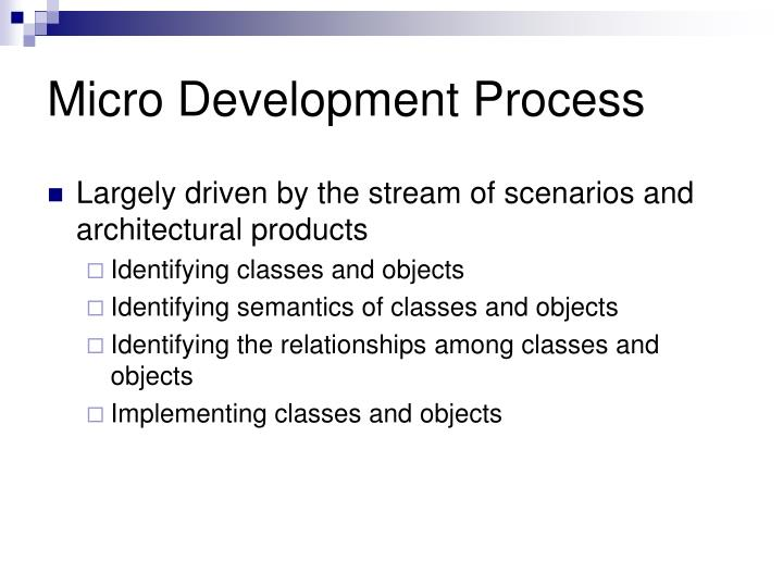 Micro Development Process