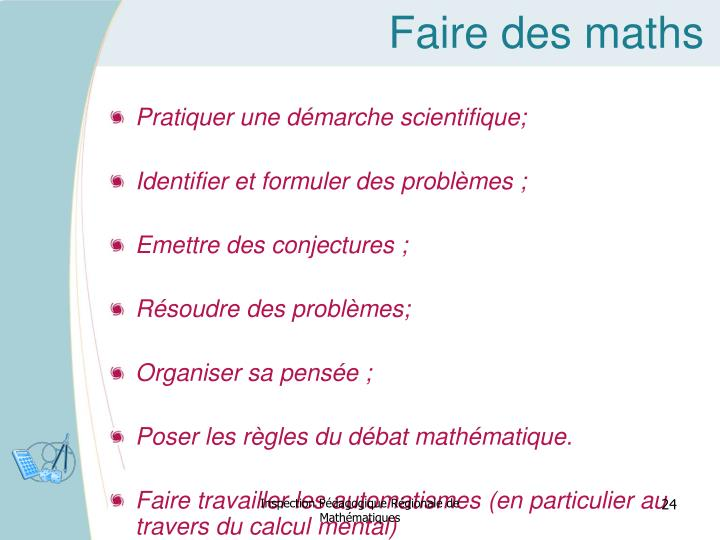 Faire des maths