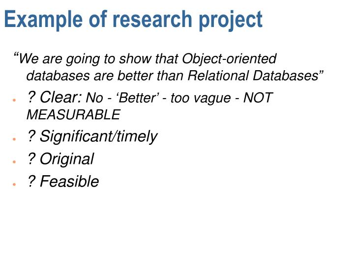 research assignment example Example assignments breaking down a research assignment one effective way of teaching research skills is to divide a research assignment-such as a paper or other.