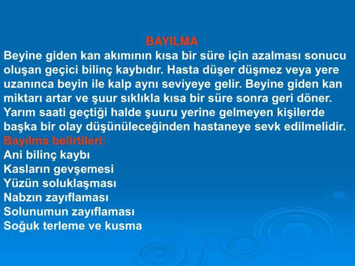BAYILMA