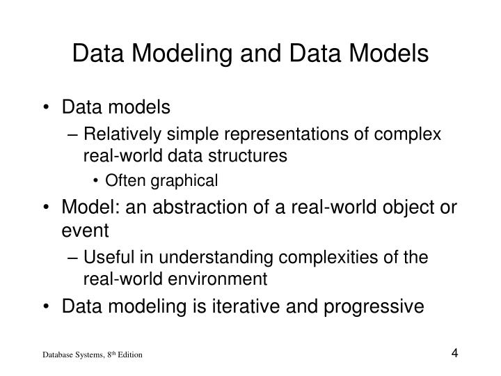 Data Modeling and Data Models