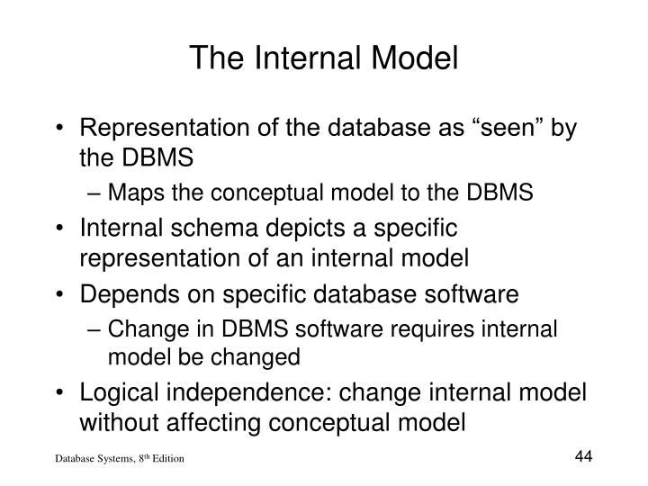 The Internal Model