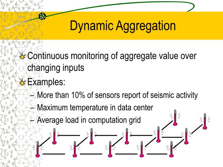 Dynamic Aggregation